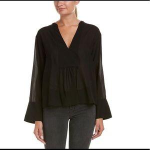 Theory Tops - NEW W/TAG! Theory Women's Black Chiffon Silk Top